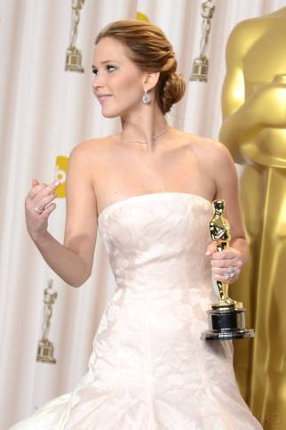 Jennifer Lawrence - L'Après Oscar - La Press Room 023