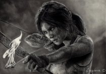 Cindy Dessin Tomb Raider