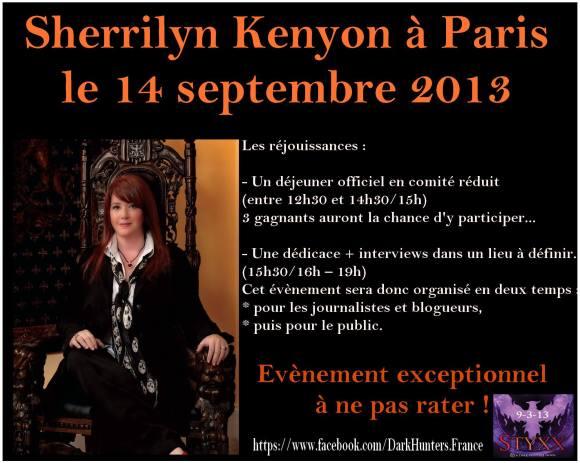 Sherrilyn Kenyon à Paris le 14/09/2013