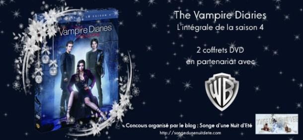 Concours Noël #1 : 2 coffrets DVD de la saison 4 de The Vampire Diaries à gagner !