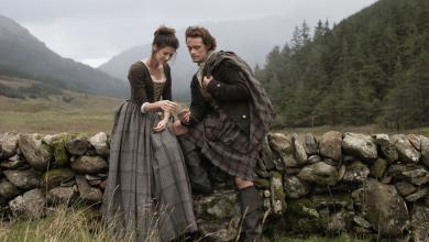 Photo de Outlander : Claire et Jamie Fraser – La première photo !
