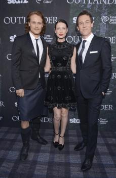 Outlander Premiere - Caitriona Balfe, Sam Heughan et Tobias Menzies