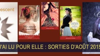 Photo of J'ai Lu Pour Elle : Sorties d'Août 2015