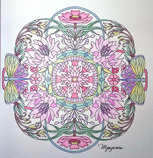 mandalas fleuris crayons exemple 2-3