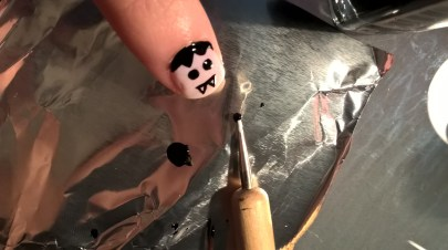 Nail art Dracula 2