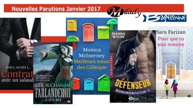 Photo of Les Sorties de Janvier 2017 pour Bragelonne/Milady