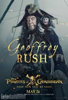 pirates des caraibes 5 Geoffrey Rush - Barbossa