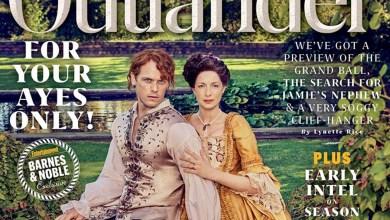 Photo de Claire et Jamie (Outlander) en couverture de EW