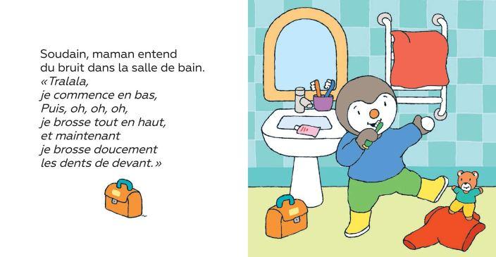 T'choupi se brosse les dents de Thierry Courtin2