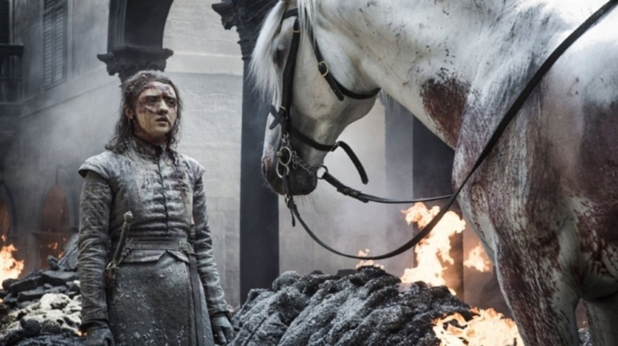 Games of Thrones Saison 8 - Episode 5 - Arya et son cheval blanc