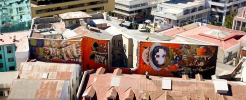 """VALPARAISO / Rues - """"Murale"""" exceptionnelle, réalisée par l'artiste INTI"""