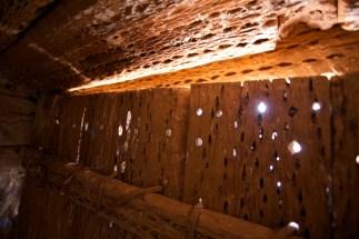 Susques / Chapelle - porte en bois de cactus