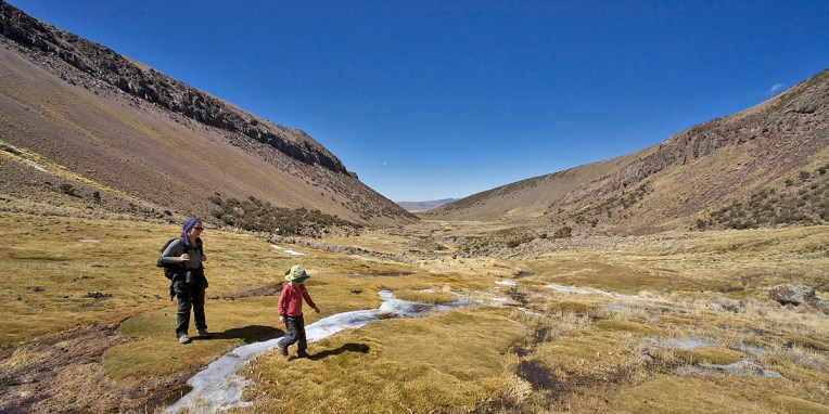 PN SAJAMA / Départ pour une balade de 5h vers un lac d'altitude (4930 m !)
