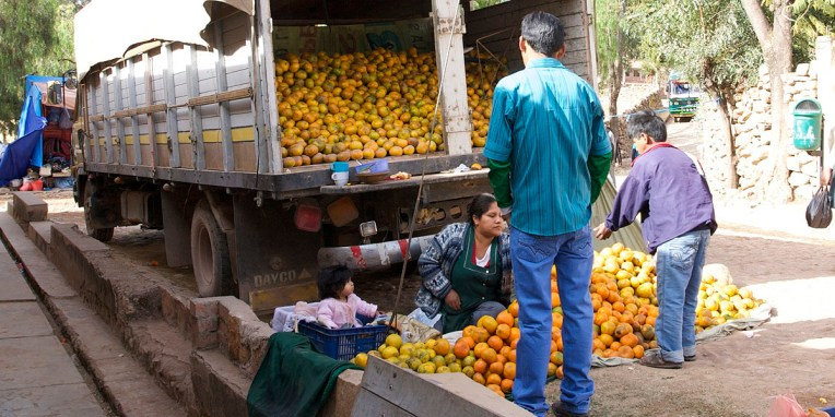 PN TOROTORO / Fête du village : vendeuse d'orange