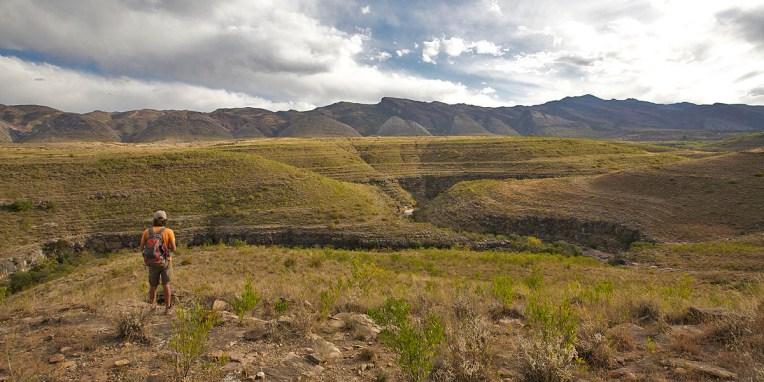 """PN TOROTORO / Balade du canyon El Vergel (""""narines de vache"""" en quechua) : à 3km de Torotoro, le sol plonge soudainement pour former un canyon spectaculaire de plus de 250m de profondeur"""