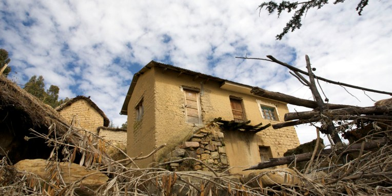 LAC TITICACA / Entre Challapampa et les ruines de Chincana