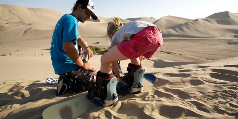ICA / Séance de sandboard : premiere fois qu'Anna met ses pieds sur une planche !
