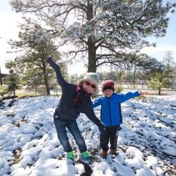 FLAGSTAFF / Reveil sous 10 cm de neige !
