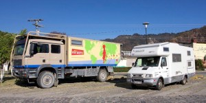 Camion aménagé par Unicat et CC européen