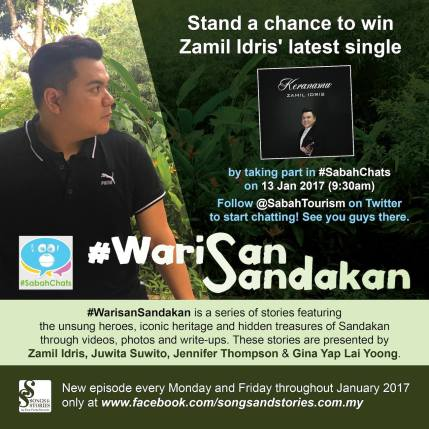 13 January 2017: #WarisanSandakan featured on #SabahChats
