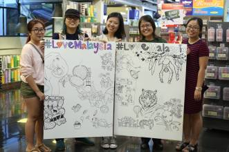 14 February 2017: Songs & Stories held the first DoodlyDo at CzipLee Bangsar