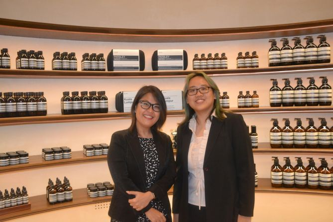 30 March 2017: Songs & Stories was the feature storyteller for the launch of AESOP Pavilion outlet