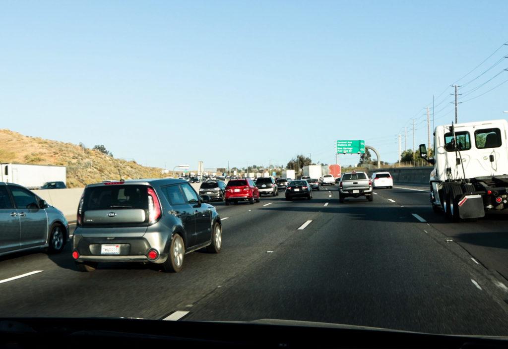 Traffic on the San Diego Freeway