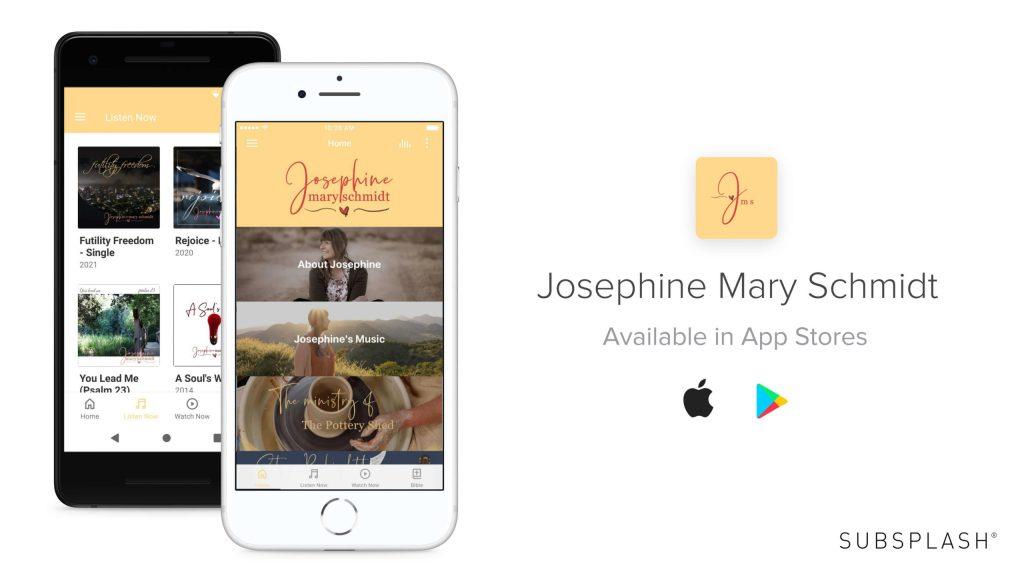 Screenshot of Josephine Mary Schmidt's App for phone