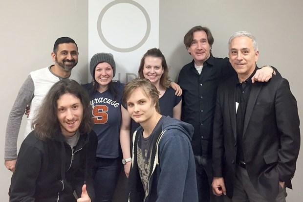Neel, Etain, Vanessa, Phil, Patrick, Alon and Ivan posing