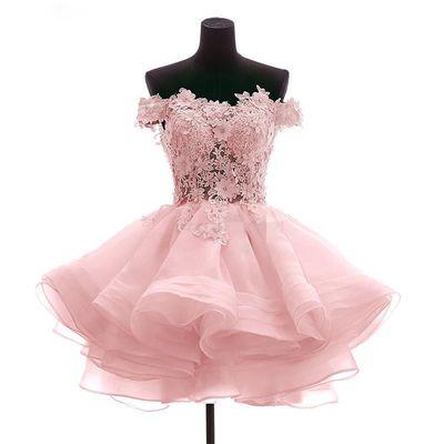 vestidos-de-15-anos-curto-com-bordados-rosa