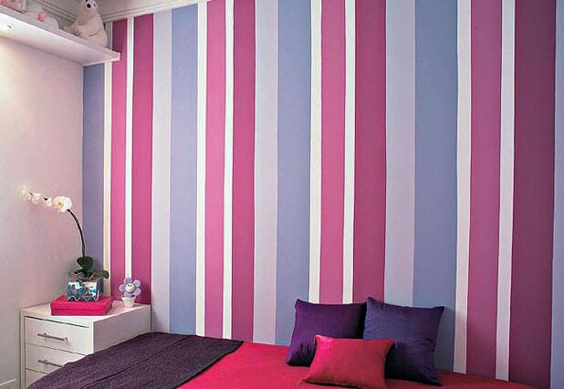 papeis-de-parede-listrado-para-quarto-feminino-decoração-dicas