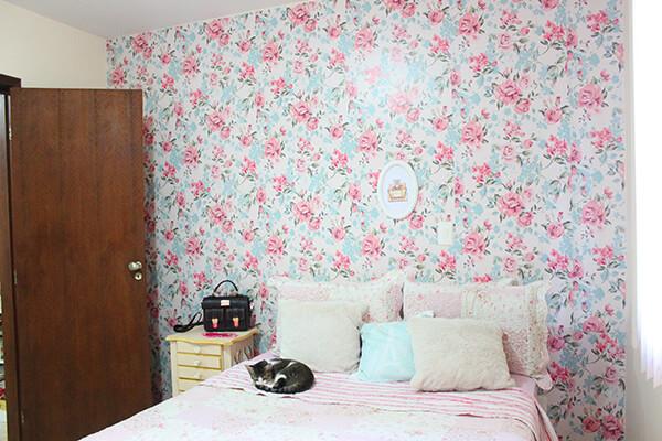 papel-de-parede-floral-vintage-quarto