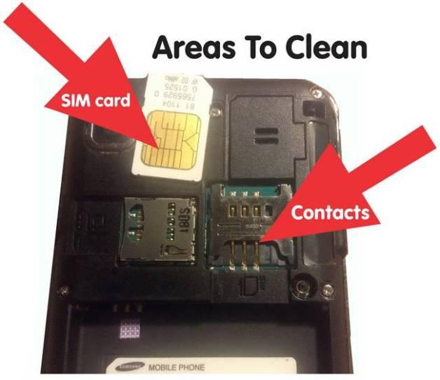 como limpar sim card