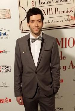 """Felipe Andrés gana el premio Unión de Actores a mejor actor secundario de teatro por """"El fantástico Francis Hardy, curandero""""."""