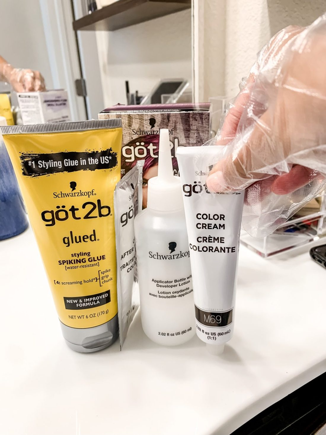 Styling Spiking Glue and Hair Dye