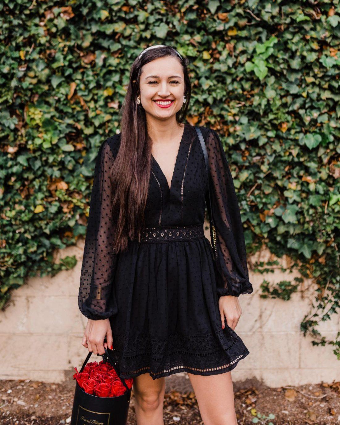 Valentine's Day Black Dress