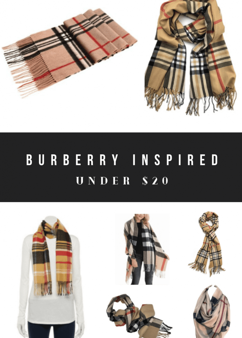Cheap Burberry Scarf Dupes, Burberry Look Alikes