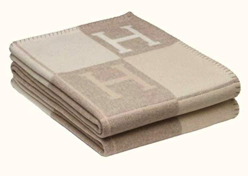 Hermes inspired blanket