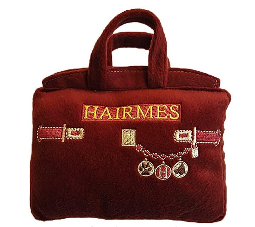 Designer Dog Toy Dupes, Hairmes Bag, Hermes