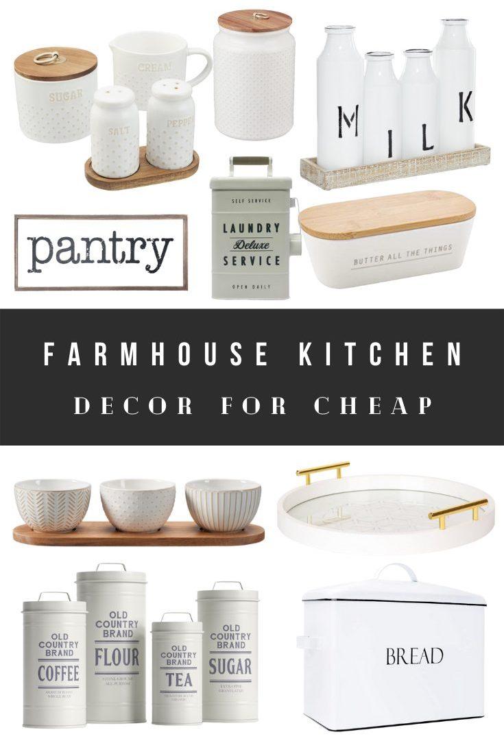 Farmhouse Kitchen Decor Cheap Barnyard Rustic