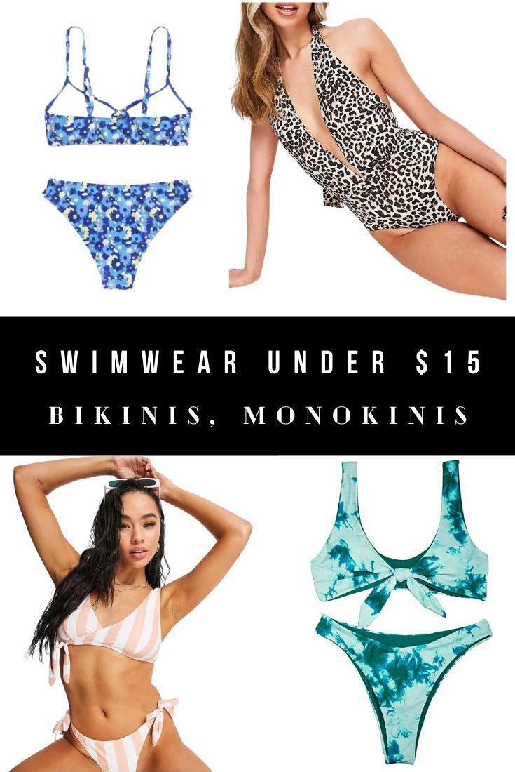 Cute Swimsuits Under $15 - Bikinis, Swimwear, Monokini