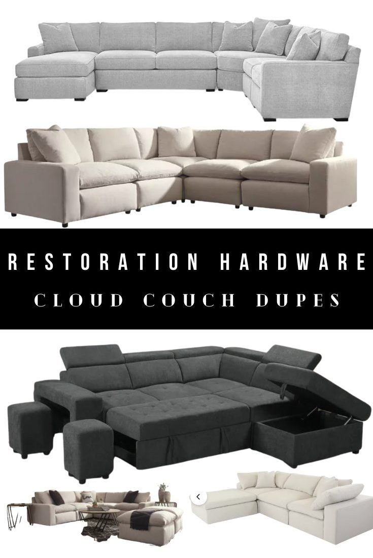 Restoration Hardware Cloud Couch Dupes, Alternatives, and Look Alikes
