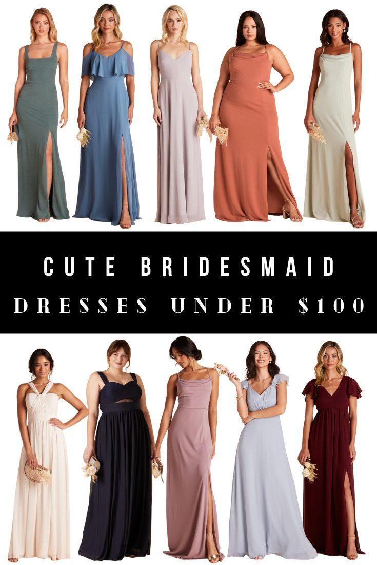 Cute Bridesmaids Dresses Under $100
