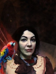Mexican color autoportrait-with perrot