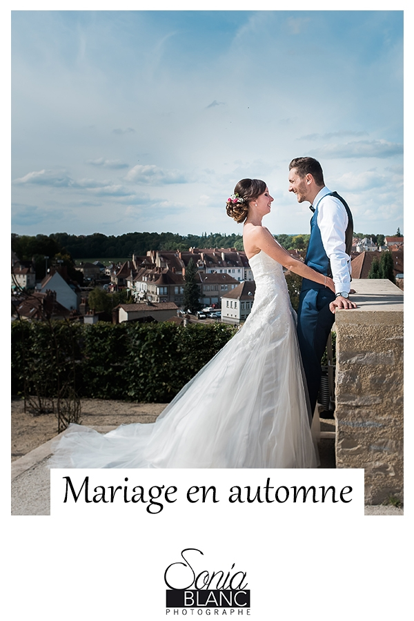 Mariage en automne en Bourgogne
