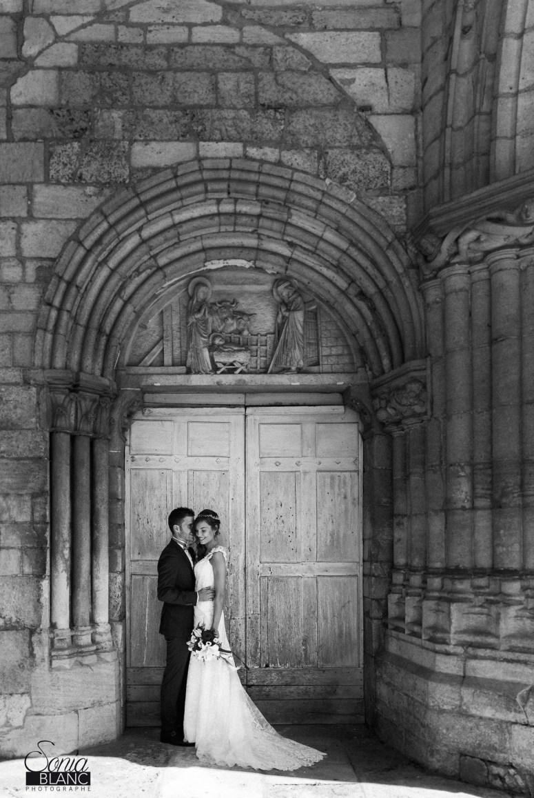 Photo des mariés - Mariage cinéma - Bourgogne