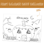 Coloriage d'Halloween (Free Printable)