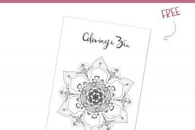 Coloriage ZEN (Free Printable)