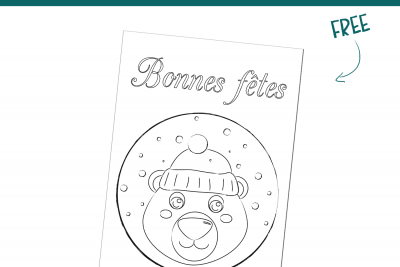 Coloriage Ours Polaire (Free printable)