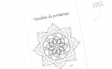 Coloriage ZEN du printemps pendant le confinement.